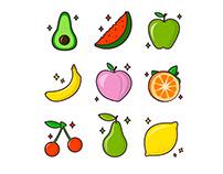 """Set icons """"Fruits"""""""