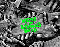 Night of the Living Dead Screen-Printed Poster