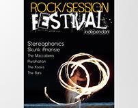 Affiche pour un festival rock