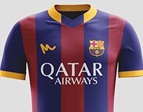 2016 FC Barcelona Kit Concepts by Metcalfe