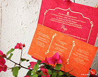 Wedding Invite Design for Pooja & Karan