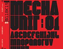 Mecha Unit 01 Font