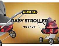 Baby Stoller Mockup