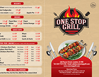 One-Stop Grill Turkish Food Menu