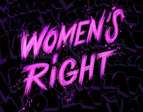 digital lettering for the women's right
