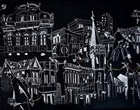 Sketchwall na Av. Paulista