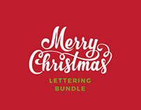 Christmas Lettering Vector Collection