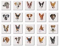 Watercolor Dogs II