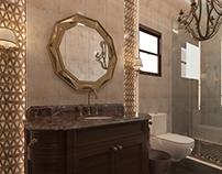 bathroom ,classic design ,pattern ,3dmax .