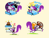 Newman the Squirrel Chat Stickers for StiKey App