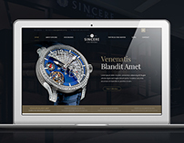 Sincere Fine Watches - Homepage Design