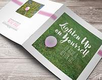 Lighten Up on Yourself Booklet Design
