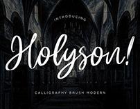 Holyson Brush Font
