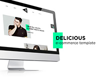 Delicious e-commerce template