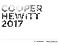 Cooper hewitt promo ad