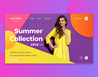 Fashion Landing Page Cover