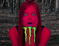 Media Psychology - Print Advert - Monster Energy
