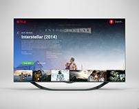Daily UI #025: TV app for a smart TV
