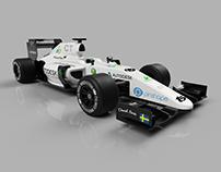 OpenR/C 3D printed 1:10 F1 R/C car