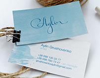 Logo and website for artist Aylin