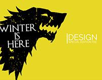 Game of Thrones - Winter Is Here Tee Design