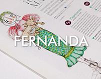 Ilustración Horóscopos revista Fernanda 2016