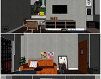 Sala AGITO Apê| Projetos de design de interiores