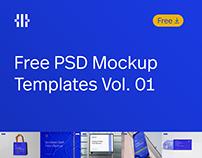 Free PSD Mockup Templates Vol. 01