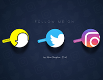 Social Icons - Follow Screen (IG, Twitter, Snapchat)