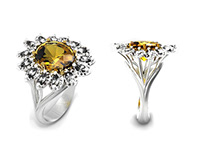 """Ring """"Camomille"""". Individual design. 2014"""