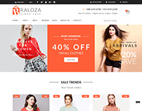 Raloza - Fashion E-commerce Bootstrap 4 Template