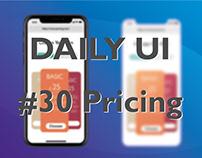 DAILY UI #30 Pricing