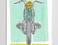 Vintage BMW Motorcycle Art Print