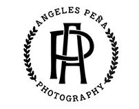 Ángeles Peña :: Diseño logo + Embosser
