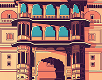 Samode Haveli Illustration
