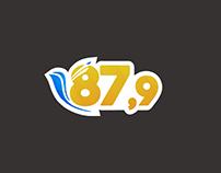 Proposta identidade visual rádio 87,9