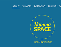 Namma Space Landing Page Design