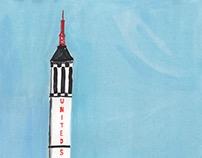 Red stone rocket