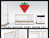 Çilek Natura Baby Room 3D Model Set