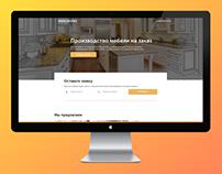 Furniture manufacture – Landing page