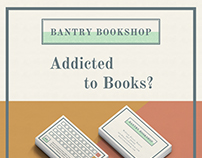 Bantry Bookshop Logo, Loyalty Cards and Poster