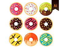 Vector donuts (Free)