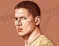 Michael scofield -Prison break - vector art