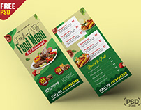 Restaurant Food Menu DL Flyer PSD