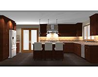 Brick & Rust Kitchen