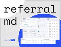 Health - Medical Dashboard - - Web app for RefferalMD