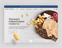 Potter's Crackers Landing Page Concept