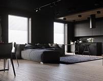 Modern loft in black