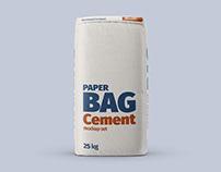 Paper Cement Bag Mockup Set