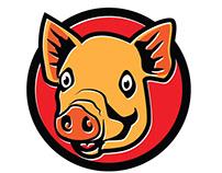 Happy pig vector image